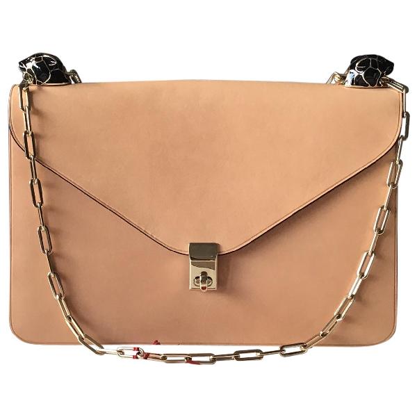 Valentino Garavani Panther Bag Beige Leather Handbag