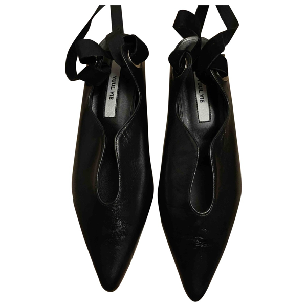 Yuul Yie Black Leather Sandals