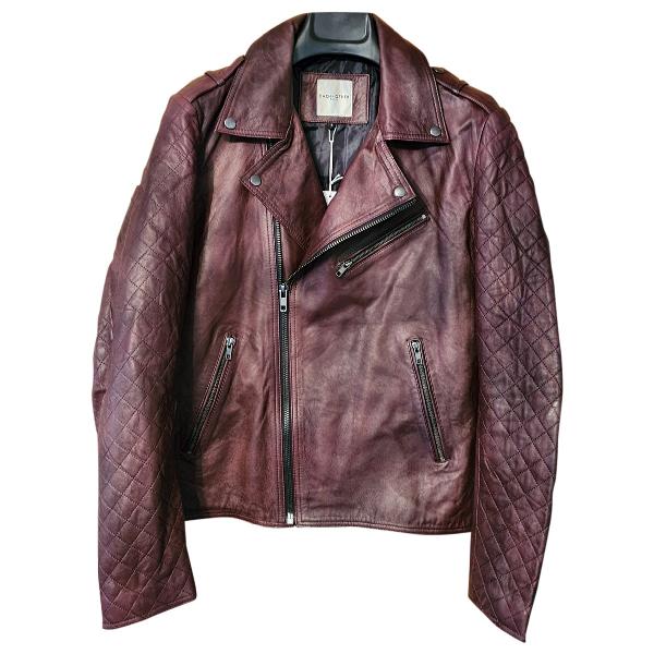 Each X Other Each X  Burgundy Leather Jacket