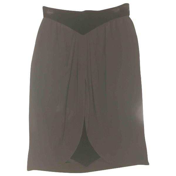 Valentino Black Velvet Skirt