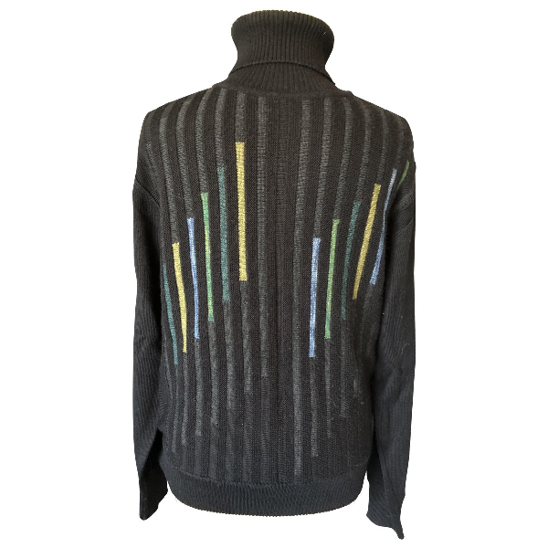 Azzaro Black Wool Knitwear & Sweatshirts
