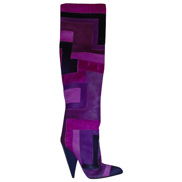 Tom Ford Purple Pony-style Calfskin Boots