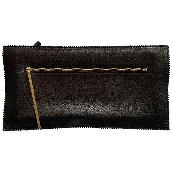 Tamara Mellon Black Leather Clutch Bag