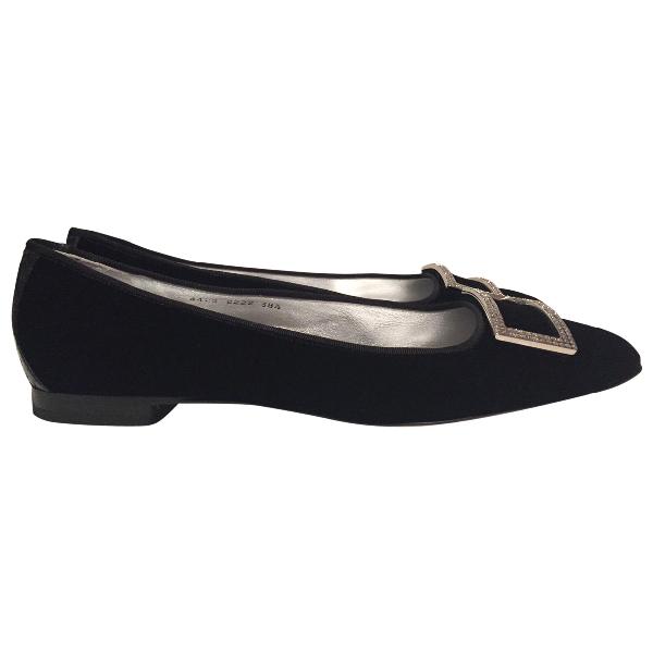 Dolce & Gabbana Black Velvet Flats