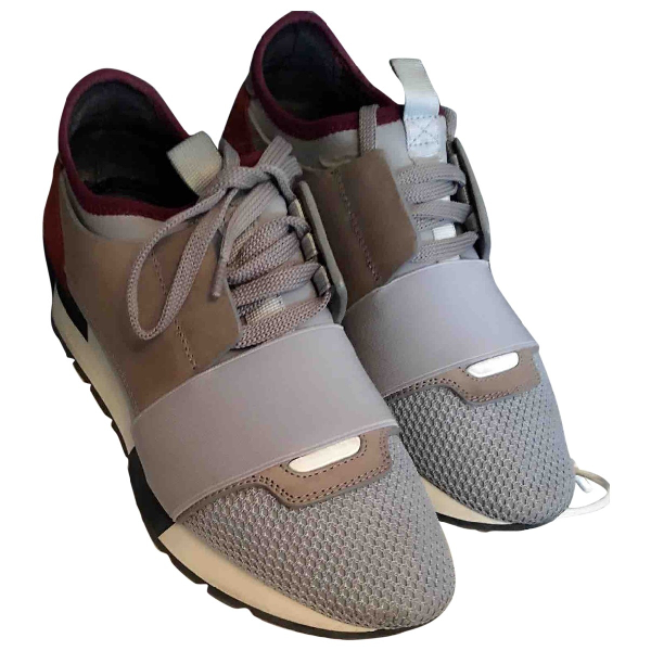 Balenciaga Race Grey Cloth Trainers