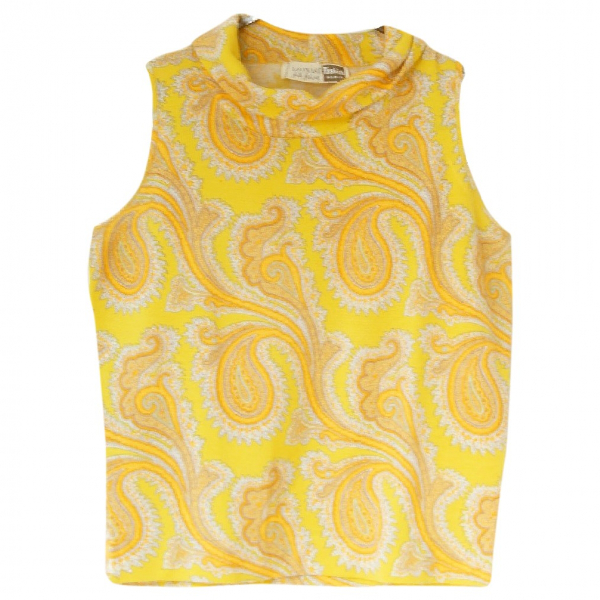 Leonard Yellow Wool  Top