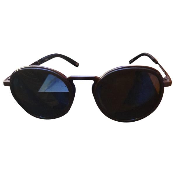 Hublot Black Metal Sunglasses