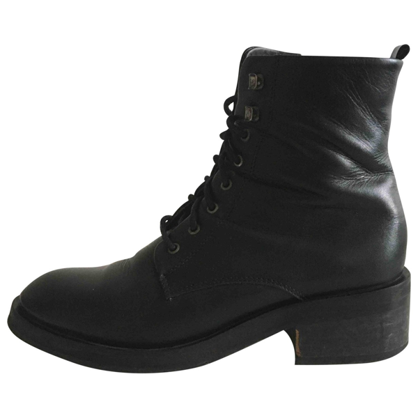 Pre-owned Royal Republiq Black Leather Ankle Boots