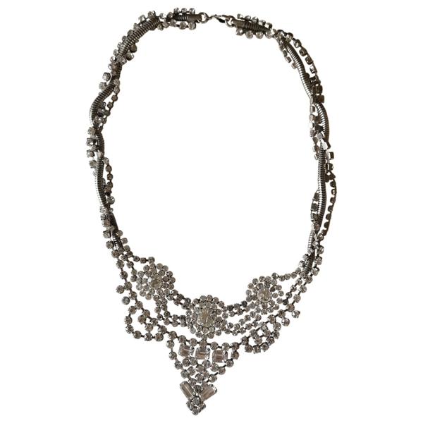 Dannijo Silver Crystal Necklace