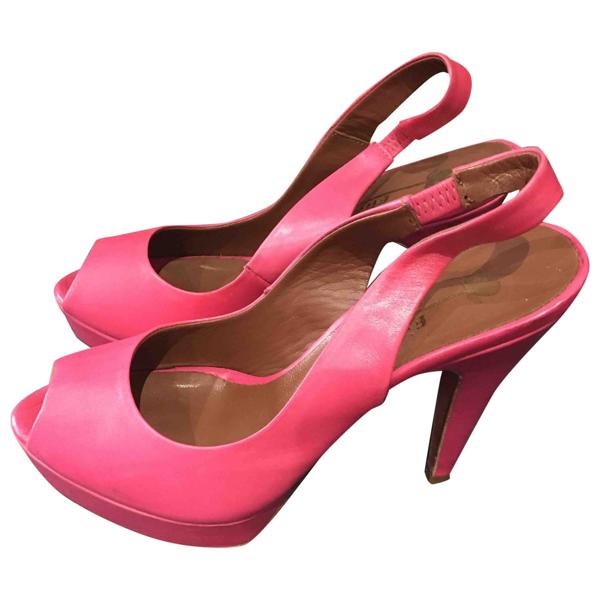 Fiorifrancesi Pink Leather Heels