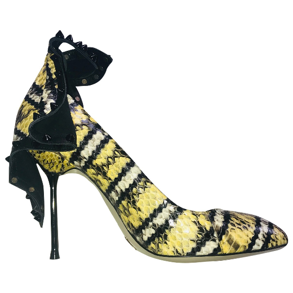 Daniele Michetti Multicolour Exotic Leathers Heels