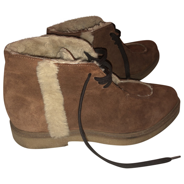 Hudson Brown Suede Boots