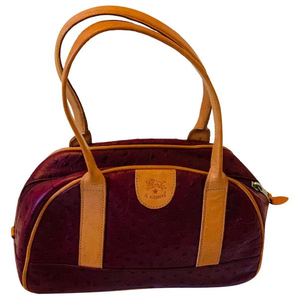 Il Bisonte Burgundy Leather Handbag