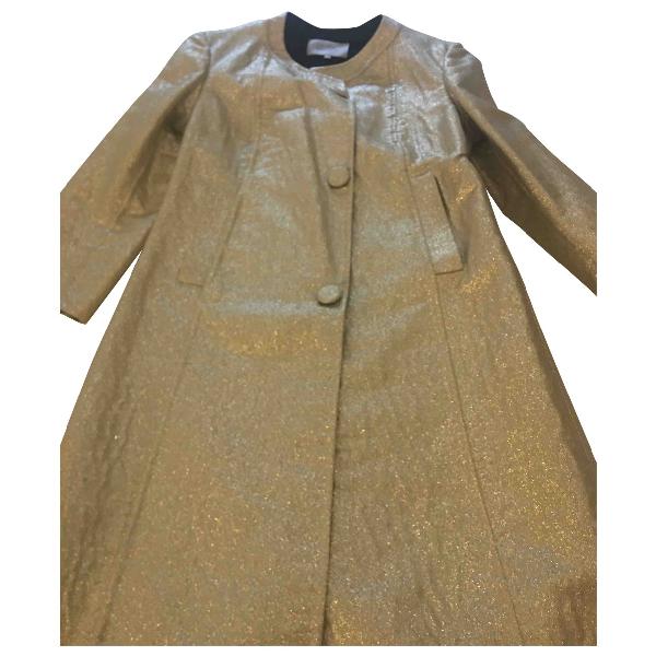 Luisa Beccaria Beige Wool Coat