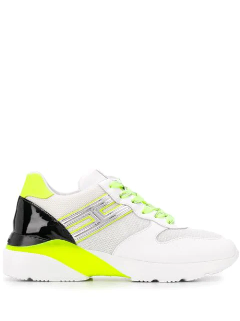 Hogan Active One Neon Detailed Sneakers In White