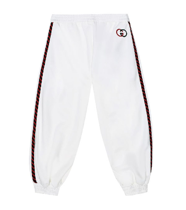 Gucci Kids' Children's Technical Jersey Pant In White