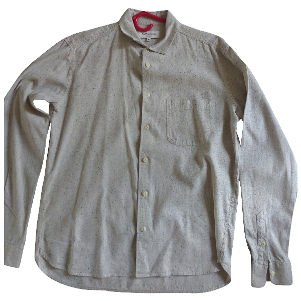 Ymc You Must Create Beige Cotton Shirts