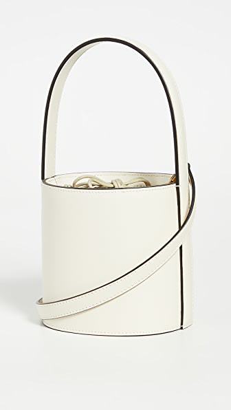 Staud Mini Bissett Bag In Cream Contrast