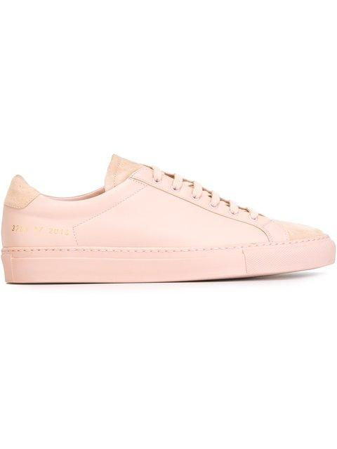 c6664a5cbe25d Common Projects Blush Leather Achilles Original Low Top Women s Sneakers In  Light+Pink
