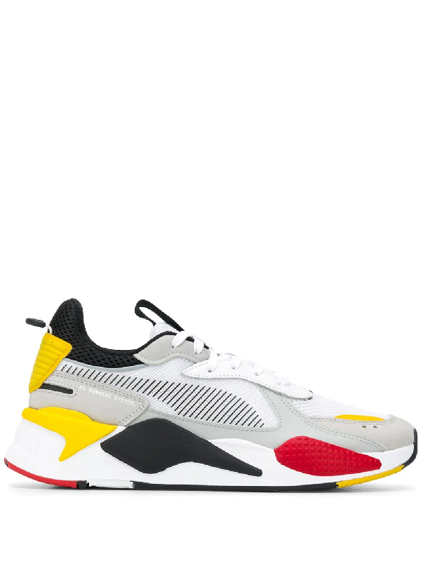 Rs-x Toys Black Yellow Red Sneaker In White