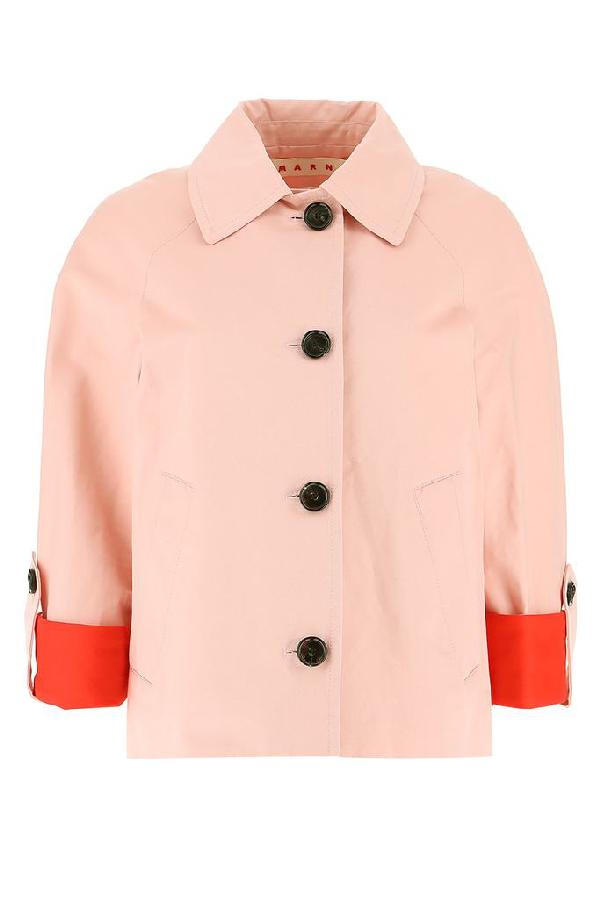 Marni Colour Block Cuffed Jacket In Pink