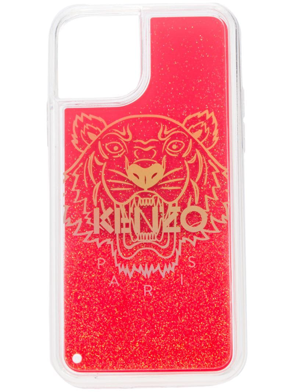 Kenzo Iphone 11 Pro Logo-print Case In Red
