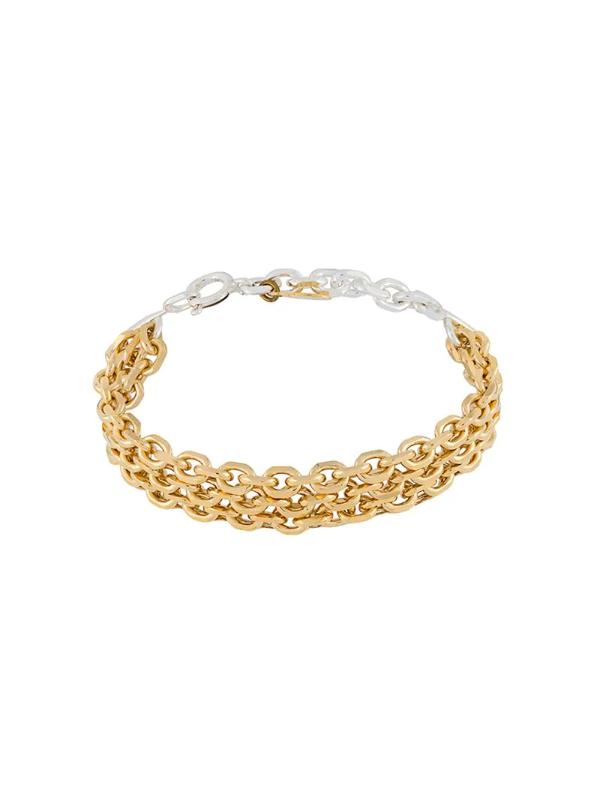 Wouters & Hendrix Multiple Strap Chain Bracelet In Silver