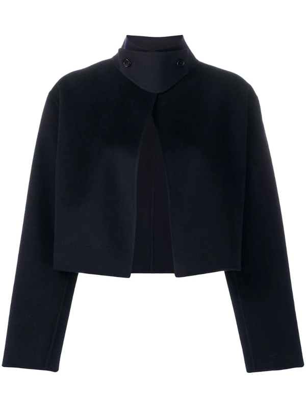 Filippa K Aleena Cropped Jacket In Blue