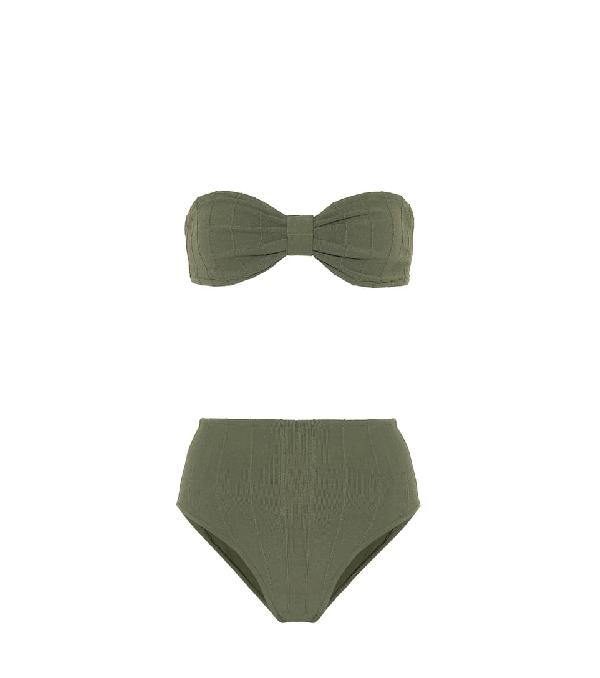 Hunza G Posey Nile Bikini In Green
