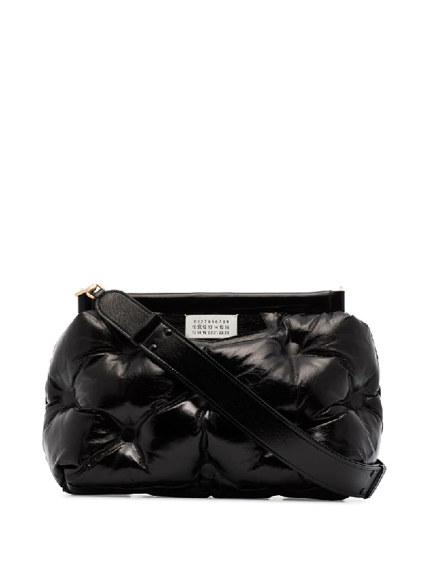 Maison Margiela Black Glam Slam Padded Leather Shoulder Bag