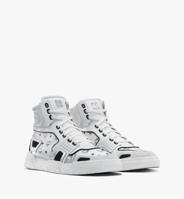 Mcm Skyward High-top-sneaker In Visetos Für Herren In White | White