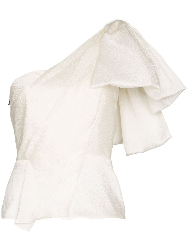 Roland Mouret Toulon Frill Detail Top In White