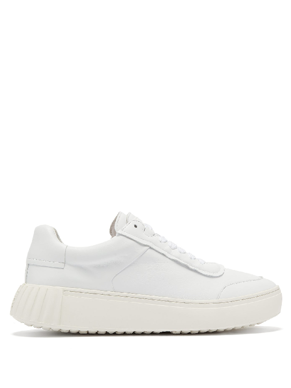 Primury Frank Low-top Leather Trainers In White