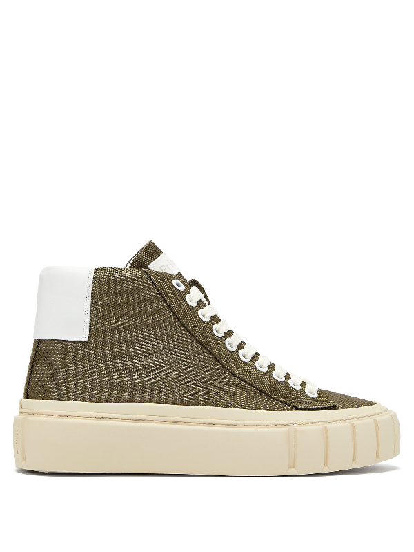 Primury Dyo Technical-canvas Trainers In Khaki