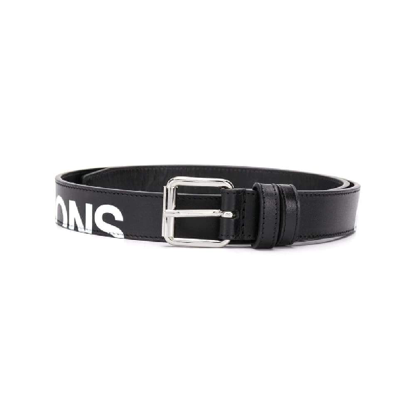 Comme Des Garçons Men's Black Leather Belt