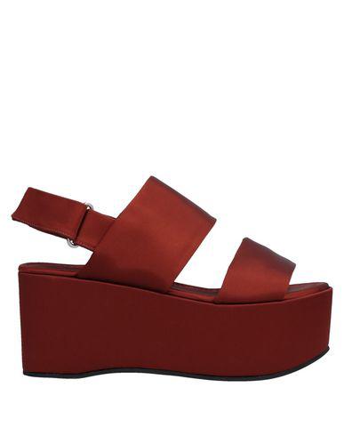 Liviana Conti Sandals In Brick Red