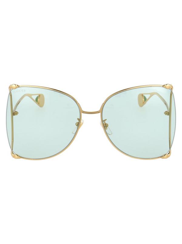 Gucci Gg0252s Sunglasses In Metallic