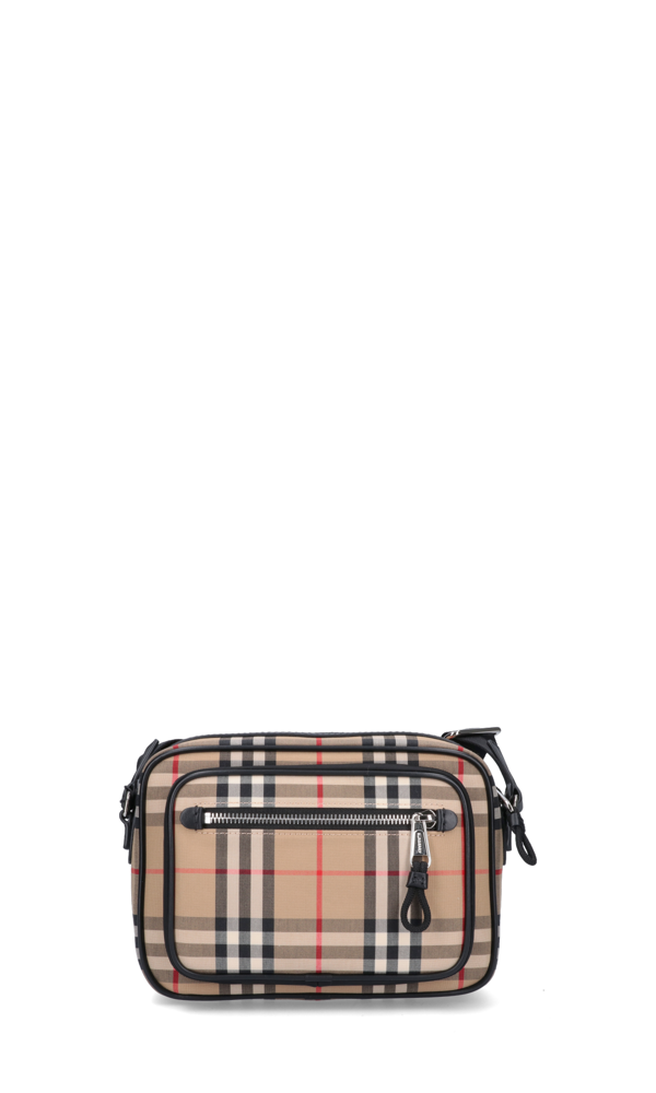 """Burberry """"vintage Check"""" Camera Bag In Neutrals"""