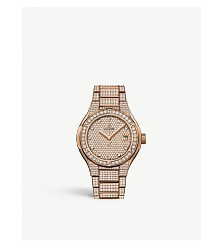 Hublot 585.ox.9000.ox.3604 Classic Fusion 18ct Rose-gold And Diamond Watch