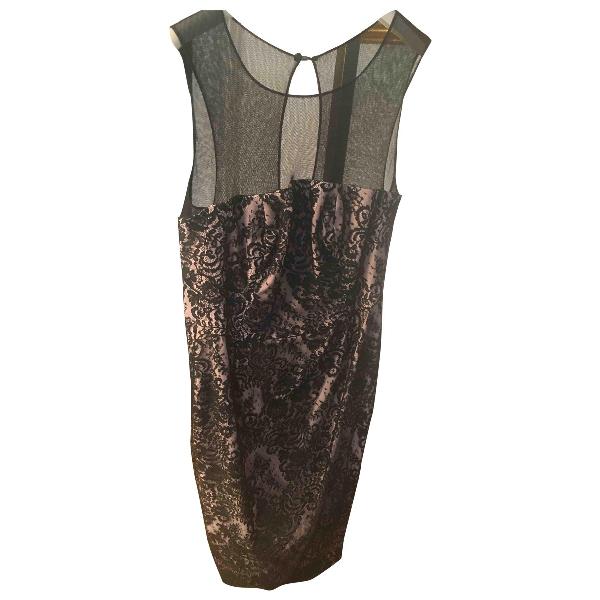 Luisa Beccaria Black Lace Dress