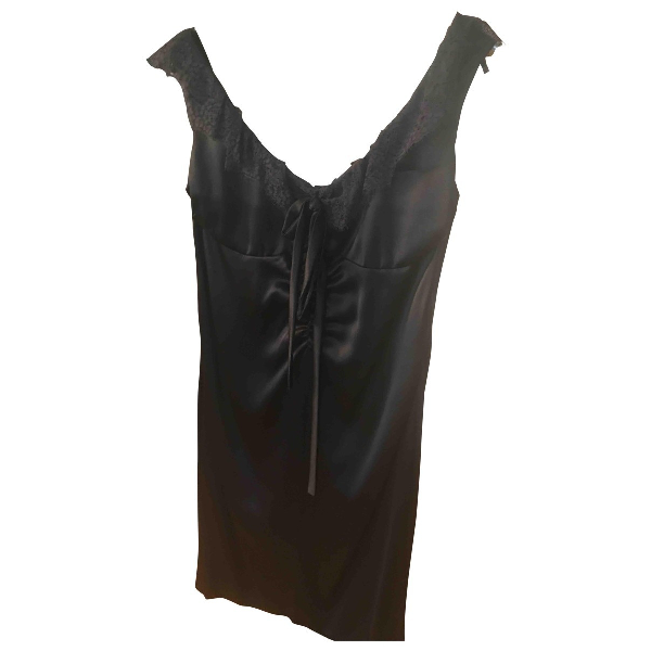 Luisa Beccaria Black Silk Dress
