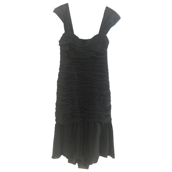 Luisa Beccaria Anthracite Silk Dress