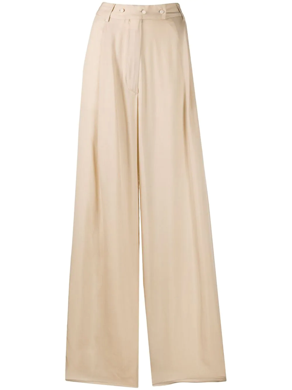 Maison Flaneur High-rise Flared Trousers In Neutrals