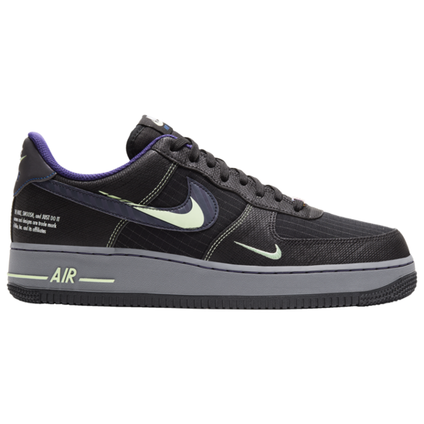 Pre-owned Air Force 1 Low Future Swoosh Pack In Black/cool Grey-vapor Green-racer Blue
