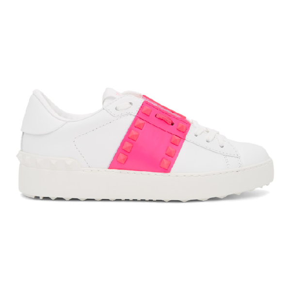 Valentino Garavani 20mm Rockstud Untitled Leather Sneakers In 42z Pink