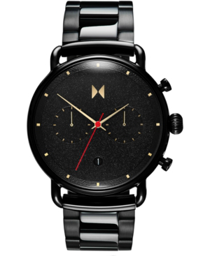 Mvmt Men's Chronograph Caviar Black Stainless Steel Bracelet Watch 47mm