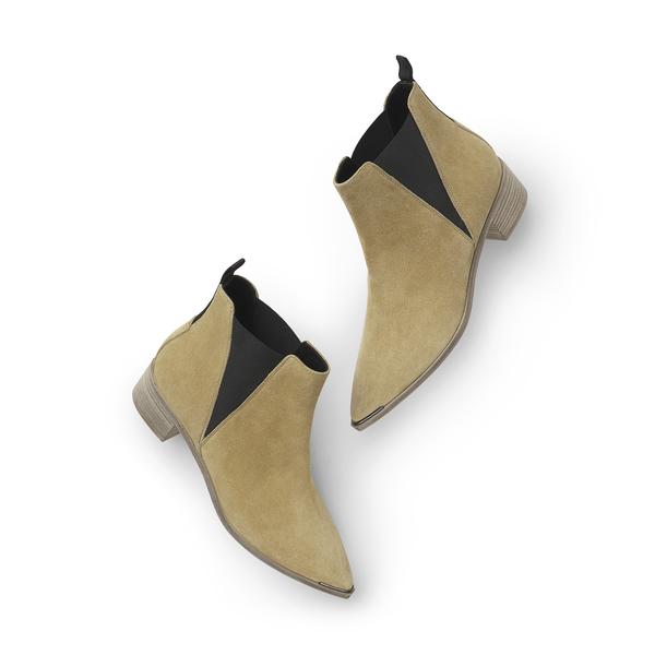 Acne Studios Jensen Suede1 Beige/beige In Jensen Suede Boots