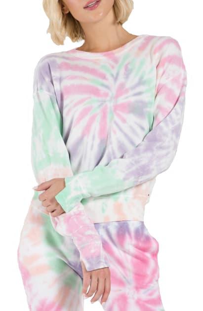 N:philanthropy Kojak Sweatshirt In Pink Panther Spiral Tie Dye