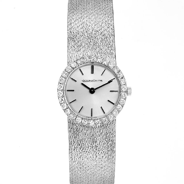 Jaeger-lecoultre 18k White Gold Diamond Vintage Cocktail Ladies Watch In Not Applicable