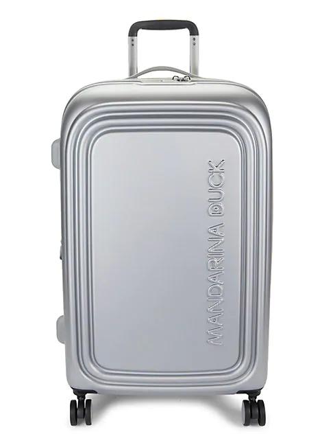 Mandarina Duck Logoduck Medium Expandable Hardshell Trolley In Silver